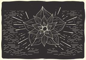 Free Christmas Flower Vector Illustration