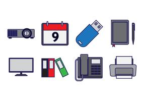 Free Office Element Icon Vector