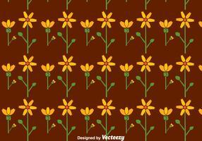 Flat Calendula Flowers Seamless Pattern