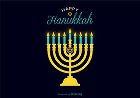 Vector Hanukkah Candle Illustration