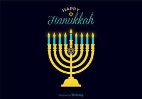 Vector Hanukkah Candle Illustration