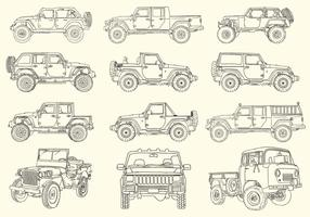 Hand Drawn Jeep Collection