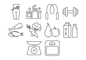Free Fitness and Health Icon Vector