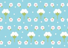 Flat Design Cotton Flower Pattern