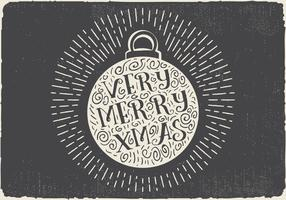 Free Vintage Hand Drawn Christmas Ball With Lettering