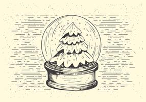 Free Vector Christmas Snow Ball Illustration