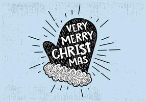 Free Vintage Hand Drawn Christmas Card Background