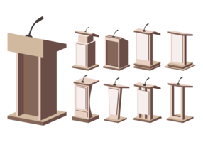 Free Lectern Vector