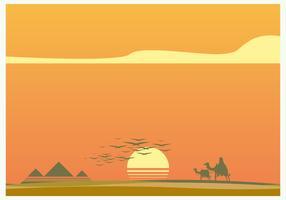 Sunset in Piramide Vector