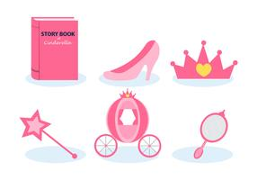 Cinderella Storytelling Vector Set