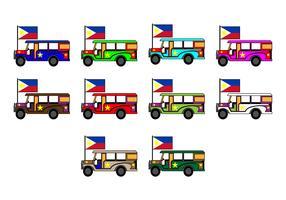 Free Philippine Jeep Icon Vector