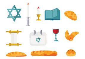 Free Shabbat Jewish Vector Illustration