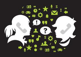 Free Comunication Vector Illustration