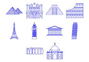Free World Landmark Icon Vector