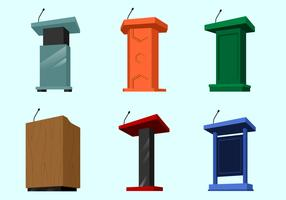 Perspective Lectern Free Vector