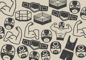 Wrestler Fighter Icon