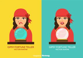 Free Vector Gispy Fortune Teller Avatar Set