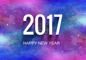 Free Vector Colorful New Year 2017 Background