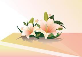 Easter lily realistic vector