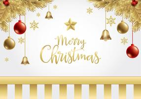 Christmas Gold Background Free Vector