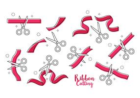 Free Ribbon Cutting Vector