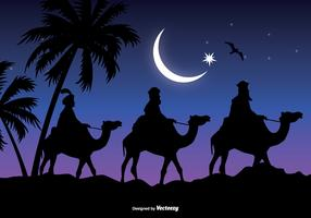 Three Wise Men Scene Vector