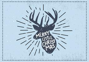 Free Christmas Deer Vector