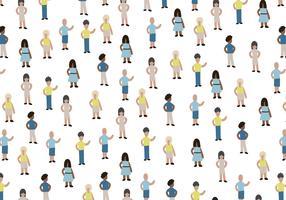 Miniatura de Personas Vector Pattern