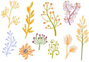 Free Floral Ornaments Vectors