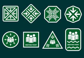Meeting Point Sign System Free Vector
