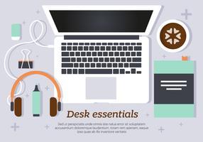 Morning Desk Essentials Ilustração vetorial