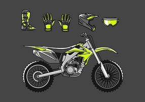 Dirt Bike Set Free Vector