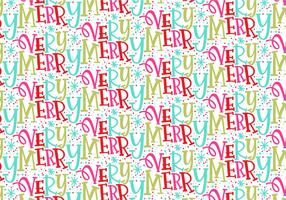 Very Merry Christmas Repeating Pattern