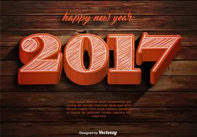 Vector Happy New Year 2017 Template