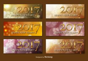 Happy New Year 2017 Vector Banners