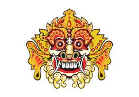 Bright Barong Mask