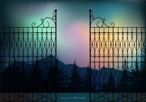 Free Northern Night Vector Background