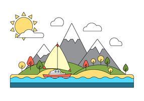 Free Landscape Vector Illustration