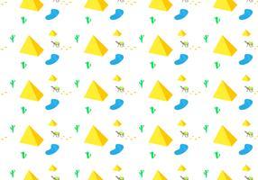 Free Piramide Seamless Pattern Vector Illustration