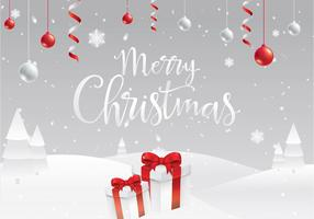 Christmas White Background Free Vector