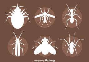 Insect Silhouette Vector Set