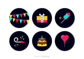 Free Colorful Party Favors Vector Icons