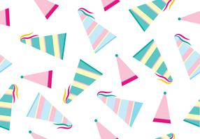 Party Hat Vector Pattern