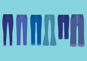 Free Blue Jeans Icons Vector