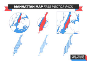 Manhattan Map Free Vector Pack