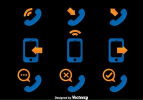 Phone Communication Icons Vector