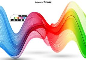 Abstract Colorful Wavy Spectrum - Vector Template