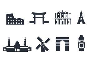 Free Landmark Icons Vector