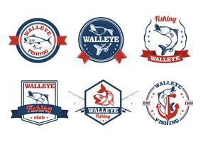 Walleye fish vintage label