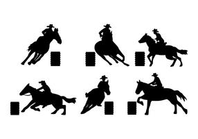 Barrel Racing Vector